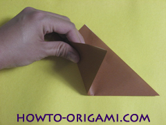 how to origami fox instruction 4 - easy origami for kid