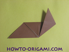 how to origami fox instruction 9 - easy origami for kid