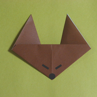 Easy Origami Fox - my first origami | 336x336