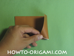 Horse barn origami - How to make barn origami instruction 3 - Kid's origami