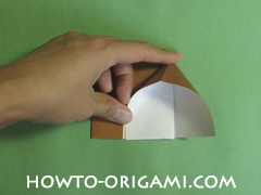 Horse barn origami - How to make barn origami instruction 7 - Kid's origami
