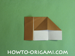 Horse barn origami - How to make barn origami instruction 8 - Kid's origami