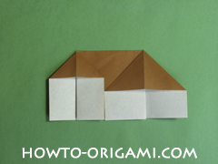Horse barn origami - How to make barn origami instruction 9 - Kid's origami