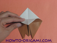 Locust or cicada origami - How to make Locust or cicada origami instruction 10