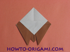 Locust or cicada origami - How to make Locust or cicada origami instruction 11