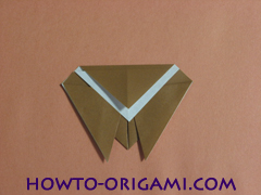 Locust or cicada origami - How to make Locust or cicada origami instruction 12