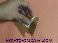 Locust or cicada origami - How to make Locust or cicada origami instruction 13