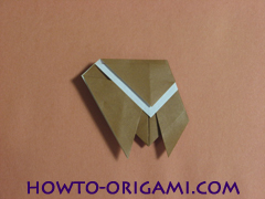 Locust or cicada origami - How to make Locust or cicada origami instruction 14