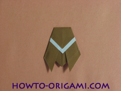 Locust or cicada origami - How to make Locust or cicada origami instruction 15