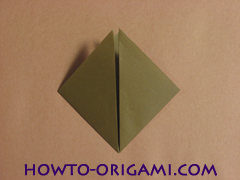 Locust or cicada origami - How to make Locust or cicada origami instruction 7