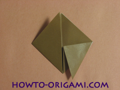 Locust or cicada origami - How to make Locust or cicada origami instruction 8