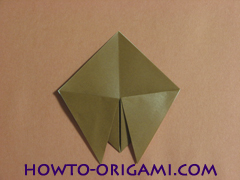 Locust or cicada origami - How to make Locust or cicada origami instruction 9
