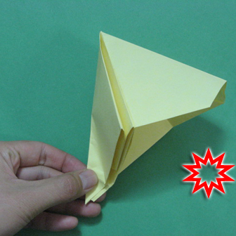Pop gun origami or Party popper origami - How to make active play origami instruction - Children's origami