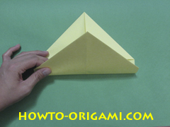 Pop gun origami or Party popper origami - How to make active play origami instruction 11 - Children's origami