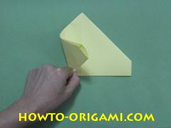 Pop gun origami or Party popper origami - How to make active play origami instruction 13- Children's origami