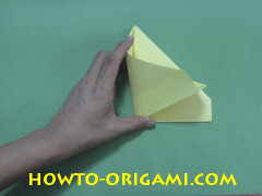 Pop gun origami or Party popper origami - How to make active play origami instruction 15 - Children's origami