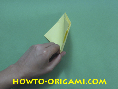 Pop gun origami or Party popper origami - How to make active play origami instruction 17 - Children's origami