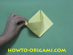 Pop gun origami or Party popper origami - How to make active play origami instruction 19 - Children's origami