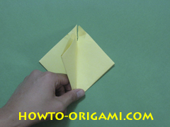 Pop gun origami or Party popper origami - How to make active play origami instruction 21 - Children's origami