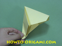 Pop gun origami or Party popper origami - How to make active play origami instruction 25 - Children's origami
