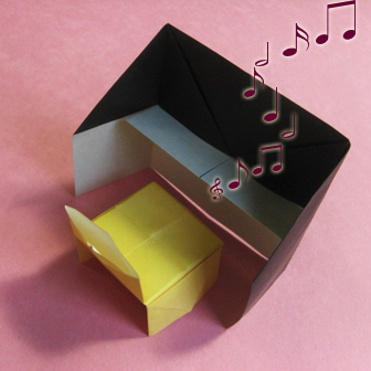 Piano origami - How to make piano origami instruction - Kids origami