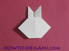 how to origami rabbit instruction 11 - easy origami for kid