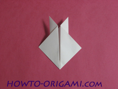 how to origami rabbit instruction 9 - easy origami for kid