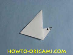 Birds origami - how to origami simple bird instruction9