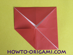 Simple flower origami - how to origami simple flower instruction10