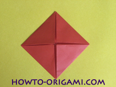 Simple flower origami - how to origami simple flower instruction11