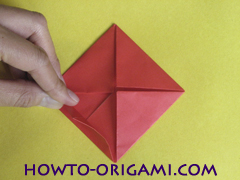 Simple flower origami - how to origami simple flower instruction12