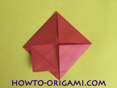 Simple flower origami - how to origami simple flower instruction13