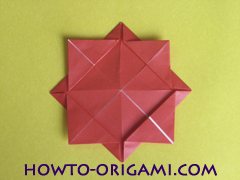 Simple flower origami - how to origami simple flower instruction14