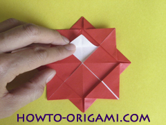Simple flower origami - how to origami simple flower instruction15