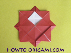 Simple flower origami - how to origami simple flower instruction16