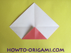 Simple flower origami - how to origami simple flower instruction7