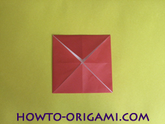 Simple flower origami - how to origami simple flower instruction8