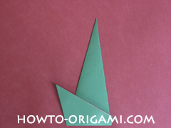 Flower stem origami - how to origami stem for flower instruction 10 for children