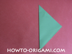 Flower stem origami - how to origami stem for flower instruction 2 for children