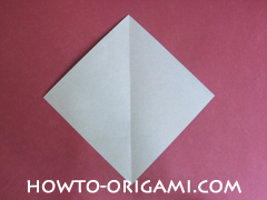 Flower stem origami - how to origami stem for flower instruction 3 for children