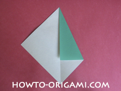 Flower stem origami - how to origami stem for flower instruction 4 for children