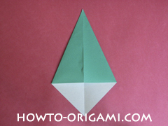 Flower stem origami - how to origami stem for flower instruction 5 for children
