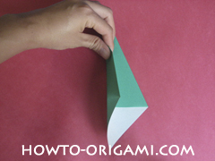 Flower stem origami - how to origami stem for flower instruction 6 for children