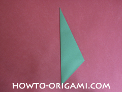 Flower stem origami - how to origami stem for flower instruction 7 for children