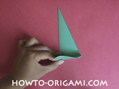 Flower stem origami - how to origami stem for flower instruction 8 for children