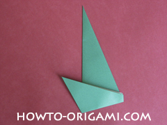 Flower stem origami - how to origami stem for flower instruction 9 for children