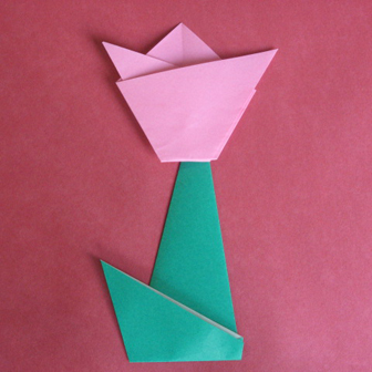 Flower stem origami - how to origami stem for flower
