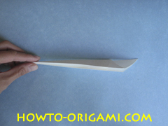 Swan origami - How to make swan origami instruction 11 - Child origami