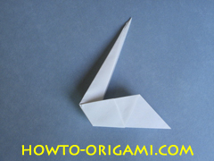 Swan origami - How to make swan origami instruction 13 - Child origami