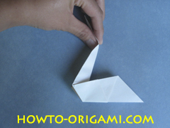 Swan origami - How to make swan origami instruction 14 - Child origami